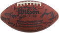 Football Collectibles:Balls, 1984-85 Pittsburgh Steelers Team Signed Football & Art Rooney Autograph....