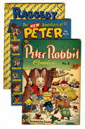 "Golden Age (1938-1955):Funny Animal, Peter Rabbit Comics/Raggedy Ann and Andy - Davis Crippen (""D"" Copy) pedigree Group (Avon, 1946-49).... (Total: 4 )"
