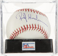 Autographs:Baseballs, Rickey Henderson Single Signed Baseball PSA Mint+ 9.5. ...