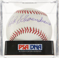 Autographs:Baseballs, Red Schoendienst Single Signed Baseball PSA Mint 9. ...
