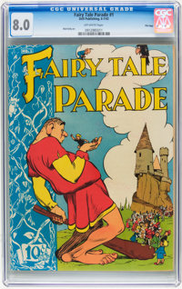 Fairy Tale Parade #1 File Copy (Dell, 1942) CGC VF 8.0 Off-white pages