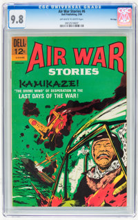 Air War Stories #6 File Copy (Dell, 1966) CGC NM/MT 9.8 Off-white to white pages