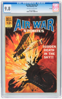 Air War Stories #3 File Copy (Dell, 1965) CGC NM/MT 9.8 Off-white to white pages