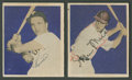 Autographs:Sports Cards, 1949 Bowman Cards Signed by Kiner & Musial....