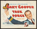 """Movie Posters:War, Task Force (Warner Brothers, 1949). Half Sheet (22"""" X 28"""") andLobby Card (11"""" X 14""""). War.. ... (Total: 2 Items)"""