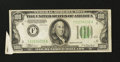 Error Notes:Attached Tabs, Fr. 2152-F $100 1934 Federal Reserve Note. Very Fine.. ...
