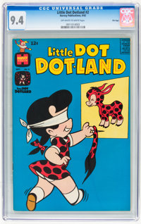 Little Dot Dotland #2 File Copy (Harvey, 1962) CGC NM 9.4 Off-white to white pages