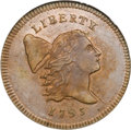Half Cents, 1795 1/2 C Lettered Edge MS62 Brown NGC....