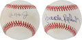 Autographs:Baseballs, Hall of Fame Baltimore Orioles Single Signed Baseballs Lot of 2....