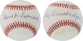 Autographs:Baseballs, Negro League Hall of Famers Signed Baseballs Lot of 2. ...