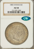 Coins of Hawaii, 1883 $1 Hawaii Dollar AU58 NGC. CAC....