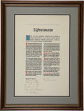 "Autographs:U.S. Presidents, Harry S. Truman Proclamation Signed ""Harry S Truman"" asPresident with Handwritten Sentiment. One page, 14.25"" x..."