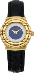 Timepieces:Wristwatch, Piaget Lady's Wristwatch With Lapis Lazuli Dial, circa 1990. ...