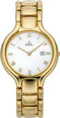 Timepieces:Wristwatch, Ebel Men's Gold Beluga Wristwatch With Mother-of-Pearl Dial,modern. ...