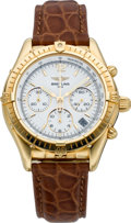 Timepieces:Wristwatch, Breitling Gold Automatic Chronograph Ref. K30012, circa 1990's. ...