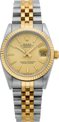 Timepieces:Wristwatch, Rolex Two Tone Oyster Perpetual, Ref. 68000, circa 1990. ...