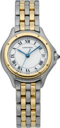 Timepieces:Wristwatch, Cartier Lady's Two Tone Cougar Wristwatch, circa 2000. ...