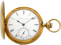 Timepieces:Pocket (pre 1900) , E. Howard & Co. Rare Gold Series III Key Wind With Mershon'sPatent, circa 1864. ...