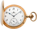 Timepieces:Pocket (post 1900), A. Lange D.U.F. Grade Gold Hunters Case Pocket Watch, circa 1920's. ...