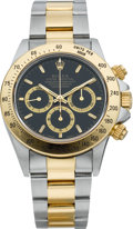 Timepieces:Wristwatch, Rolex Ref. 16523 Two Tone Daytona Cosmograph With Box & Papers,circa 1995. ...