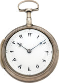 Timepieces:Pocket (pre 1900) , Swiss Oversize Turkish Market Verge Fusee, circa 1820. ...