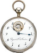 Timepieces:Pocket (pre 1900), Piguet & Comp. Unusual 1/4 Hour Repeating Verge Fusee With Thermometer Dial, circa 1825. ...