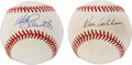 Autographs:Baseballs, Hall of Fame Philadelphia Phillies Single Signed Baseballs Lot of2....