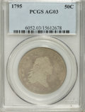 Early Half Dollars: , 1795 50C 2 Leaves AG3 PCGS. PCGS Population (18/1254). NGC Census:(7/786). Mintage: 299,680. Numismedia Wsl. Price for pro...
