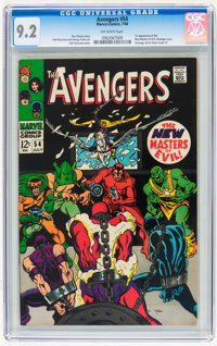 The Avengers #54 (Marvel, 1968) CGC NM- 9.2 Off-white pages