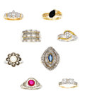 Estate Jewelry:Lots, Lot of Multi-Stone, Diamond, Gold Rings. ... (Total: 8 Items)