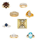 Estate Jewelry:Lots, Lot of Diamond, Multi-Stone, Gold Rings. ... (Total: 8 Items)