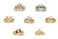 Estate Jewelry:Lots, Lot of Diamond, Gold Rings. ... (Total: 14 Items)