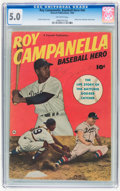 Golden Age (1938-1955):Non-Fiction, Roy Campanella, Baseball Hero #nn (Fawcett Publications, 1950) CGCVG/FN 5.0 Off-white pages....