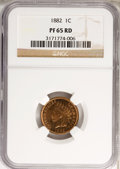 Proof Indian Cents: , 1882 1C PR65 Red NGC. NGC Census: (8/2). PCGS Population (16/15). Mintage: 3,100. Numismedia Wsl. Price for problem free NG...
