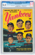 Golden Age (1938-1955):Non-Fiction, Thrilling True Story of the Baseball Yankees nn (Fawcett, 1952) CGCFN- 5.5 Off-white to white pages....