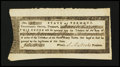 Colonial Notes:Vermont, State of Vermont Treasury Certificate March 3, 1787 Tinmouth,Extremely Fine....