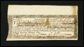 Colonial Notes:Vermont, Vermont Loan Certificate Windsor Sept 22 1785 Very Fine-Extremely Fine....