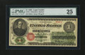 Large Size:Legal Tender Notes, Fr. 16 $1 1862 Legal Tender PMG Very Fine 25....