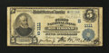 National Bank Notes:Virginia, Richmond, VA - $5 1902 Plain Back Fr. 598 The First NB Ch. #(S)1111. ...