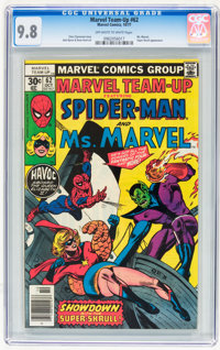Marvel Team-Up #62 Spider-Man and Ms. Marvel (Marvel, 1977) CGC NM/MT 9.8 Off-white to white pages