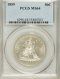 Seated Half Dollars, 1859 50C MS64 PCGS....