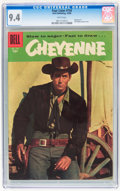 Silver Age (1956-1969):Western, Four Color #734 Cheyenne (Dell, 1956) CGC NM 9.4 White pages....