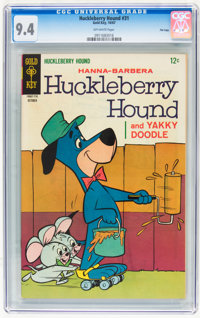 Huckleberry Hound #31 File Copy (Gold Key, 1967) CGC NM 9.4 Off-white pages