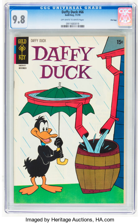 Daffy Duck #66 File Copy (Gold Key, 1970) CGC NM/MT 9.8 Off-white to white pages....