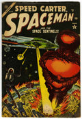 Golden Age (1938-1955):Science Fiction, Spaceman #4 (Atlas, 1954) Condition: VG/FN....