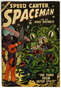 Golden Age (1938-1955):Science Fiction, Spaceman #6 (Atlas, 1954) Condition: VG+....