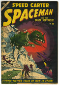 Golden Age (1938-1955):Science Fiction, Spaceman #3 (Atlas, 1954) Condition: VG/FN....