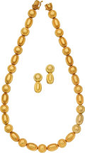Estate Jewelry:Suites, Gold Jewelry Suite, Lalaounis, Greek. ... (Total: 3 Items)