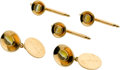 Estate Jewelry:Cufflinks, Cat's-Eye Chrysoberyl, Gold Dress Set, Tivol. ... (Total: 5 Items)