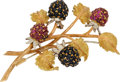 Estate Jewelry:Brooches - Pins, Ruby, Sapphire, Gold Brooch, Buccellati. ... (Total: 2 Items)